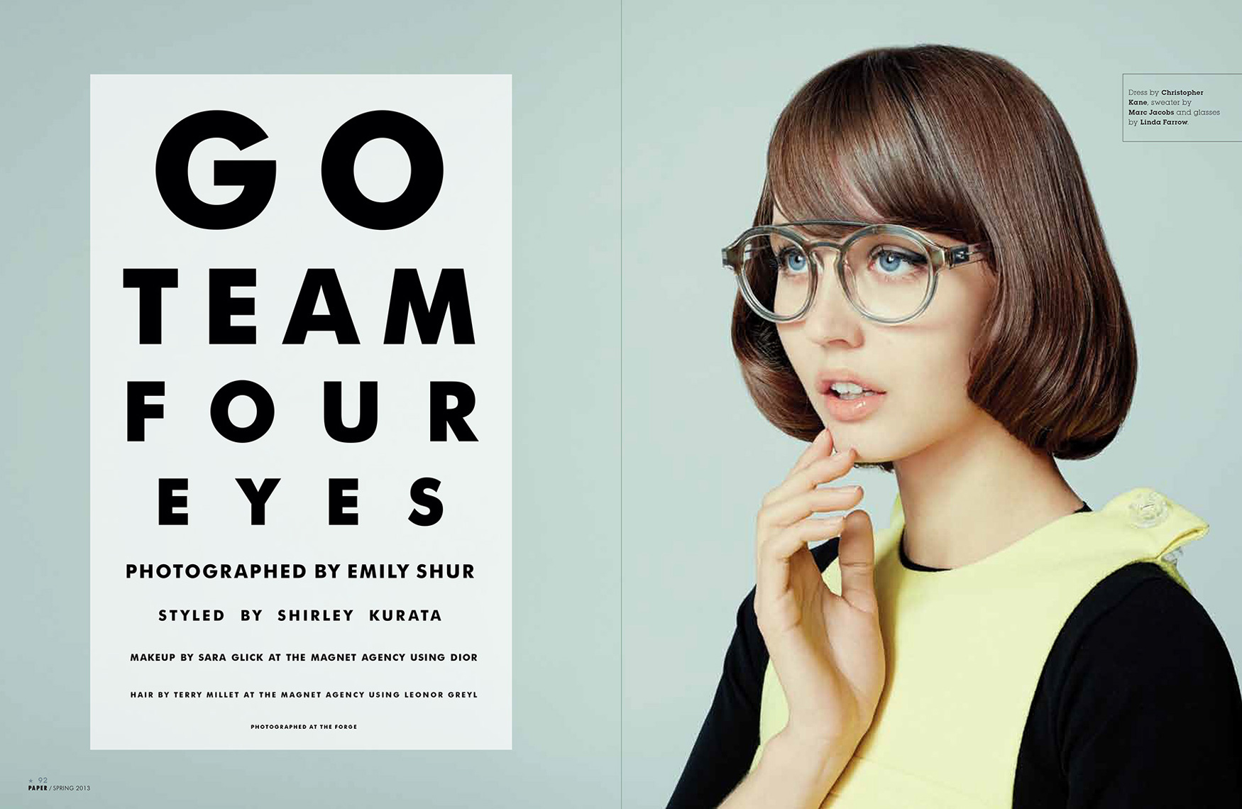 Go Team Four Eyes | Paper Magazine